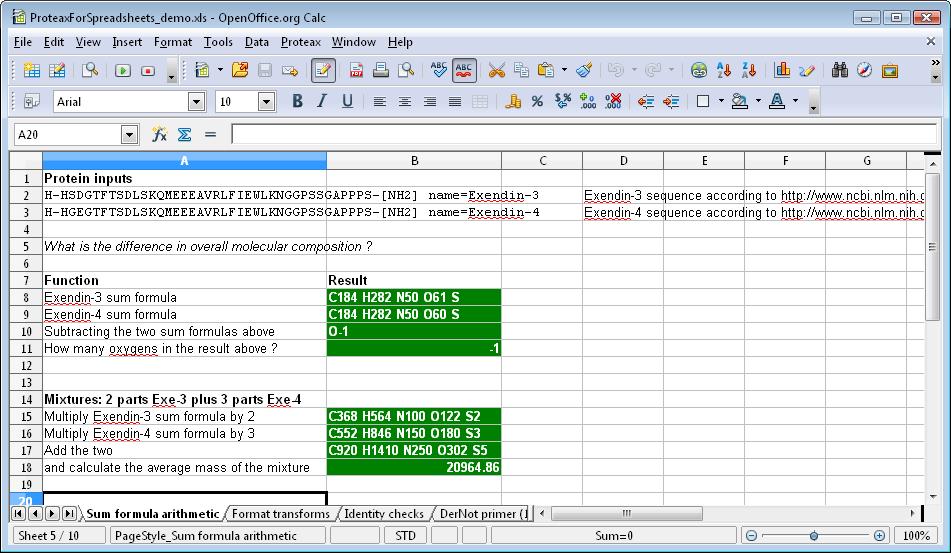 How to write a formula on spreadsheet